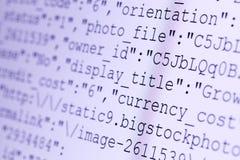 Codes de HTML Photographie stock