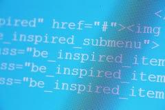 Codes de HTML Photos stock