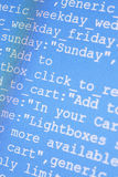 Codes de HTML Photo libre de droits