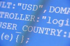 Codes de HTML Image stock