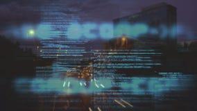 Codes und verkehrsreiche Straße stock footage