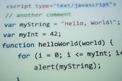 Codetext Digital Java Computer codieren Konzept Software- stockfoto
