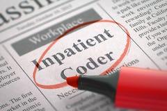 Codeur d'hospitalisé voulu illustration 3D Image stock