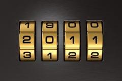 Codeverriegelung des neuen Jahres 2011 Stockfoto