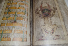Codex gigas also called Devil's bible Stock Photography