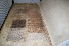 Codex gigas also called Devil's bible Stock Photo