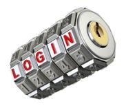 Codez le mécanisme avec le LOGIN Photos stock
