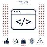Codez le rédacteur Icon Illustration de Vecteur