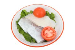 Codfish. Sliced codfish Royalty Free Stock Images