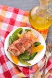 Codfish i bacon Fotografering för Bildbyråer
