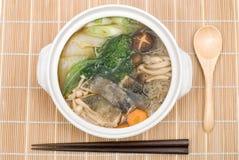 Codfish meat hot pot Royalty Free Stock Photo