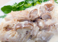Codfish with mushroom Stock Photo