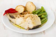 Codfish with potato Royalty Free Stock Photography