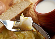 Codfish with potatoes Stock Photography