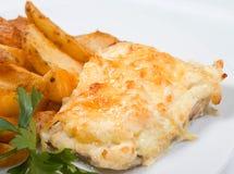 Codfish with potatoeses Stock Photo