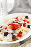 Codfish with red pepper Royalty Free Stock Photography