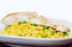 Codfish with rice Royalty Free Stock Image