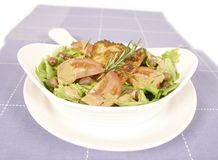 Codfish salad. Deep fried codfish salad with dressing Stock Photography