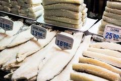 Codfish stall Royalty Free Stock Photography