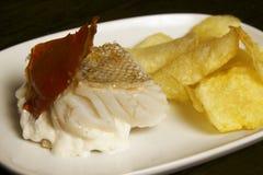 codfish torkade den portugal ångade sunen Arkivfoto