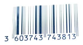Codice a barre blu per traceability Fotografia Stock Libera da Diritti