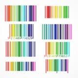 Codice a barre colorato arcobaleno Illustrazione di vettore Immagine Stock