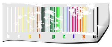 Codice a barre colorato del Rainbow Immagini Stock