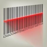 Codice a barre con luce laser. ENV 8 Immagine Stock Libera da Diritti