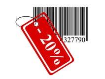Codice a barre con un segno Fotografie Stock