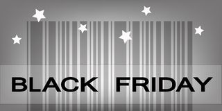 Codice a barre cyber di lunedì per i prodotti di prezzi speciali Fotografie Stock Libere da Diritti