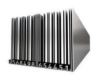 codice a barre del metallo 3d Fotografia Stock
