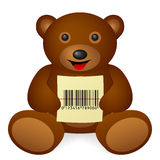 Codice a barre dell'orsacchiotto Immagini Stock Libere da Diritti