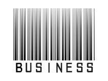 Codice a barre di affari Fotografia Stock