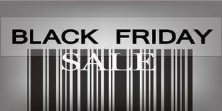 Codice a barre di Black Friday per i prodotti di prezzi speciali Immagine Stock