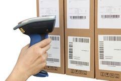 Codice a barre di Bluetooth e scanner di codice di QR Fotografia Stock Libera da Diritti