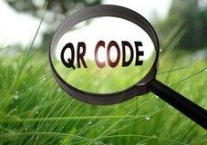 Codice a barre di codice di QR Fotografie Stock