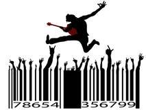 Codice a barre di musica rock Fotografie Stock Libere da Diritti