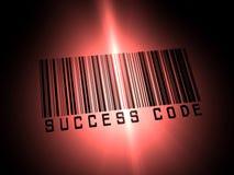 Codice a barre di successo Fotografia Stock
