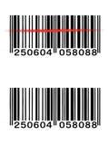 Codice a barre di vettore Fotografia Stock