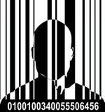 Codice a barre ed uomo 5 Fotografie Stock Libere da Diritti