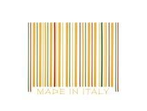 Codice a barre fatto con gli spaghetti italiani Fotografia Stock