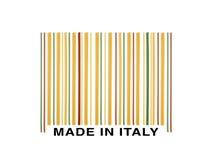 Codice a barre fatto con gli spaghetti italiani Immagini Stock