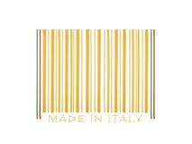 Codice a barre fatto con gli spaghetti italiani Fotografie Stock Libere da Diritti
