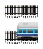 Codice a barre ferroviario Fotografie Stock Libere da Diritti