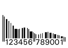 Codice a barre giù Fotografie Stock Libere da Diritti