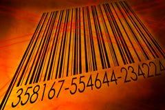 Codice a barre scandetto dal lettore del laser del codice a barre Immagini Stock Libere da Diritti