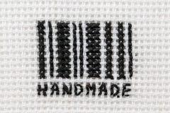Codice a barre stilizzato, ricamato Immagine Stock