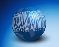 Codice a barre in tutto il mondo Fotografia Stock