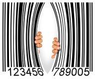 Codice a barre violento Fotografie Stock Libere da Diritti