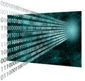 codice binario 3D Fotografia Stock Libera da Diritti